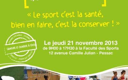Sport santé en Gironde avec les 10e Assises Sport Prévention Santé les 18, 20 et 21 novembre 2013
