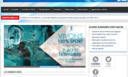 Le CROS d'Aquitaine présente son nouveau site internet