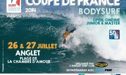 Bodysurf  – Première étape de la Coupe de France à Anglet les 26 et 27 juillet 2014