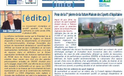 « Sentez-Vous Sport » dans le trimestriel du CROS de juillet 2014