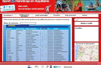 Sport & Handicap en Aquitaine, un site accessible à tous pour tous bientôt en ligne