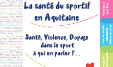 """Découvrez le livret """"la santé du sportif en Aquitaine, Santé, Violence, Dopage dans le sport à qui en parler ? …"""