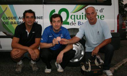 Badminton – L'aquitain Joël RENAUDEAU médaillé de bronze au championnat d'Europe vétérans