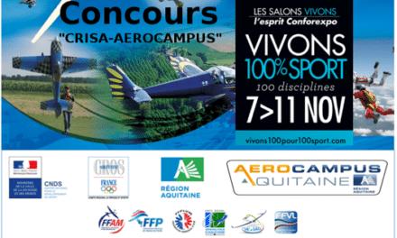 Résultat du concours « CRISA-AEROCAMPUS vivent 100% SPORT »
