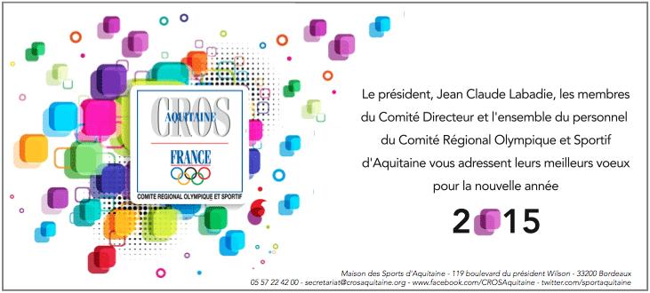 Carte de Voeux 2015 du CROS d'Aquitaine