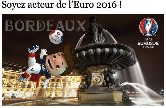 Soyez acteur de l'Euro 2016 – appel à projet jusqu'au 15 mai 2015