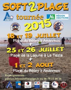 "Softball Mixte - Tournoi international ""Soft de plage"" @ Plage du Bétey – ANDERNOS (33)"