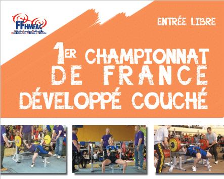 Championnats de France Jeunes, Elite et Masters de Développé Couché