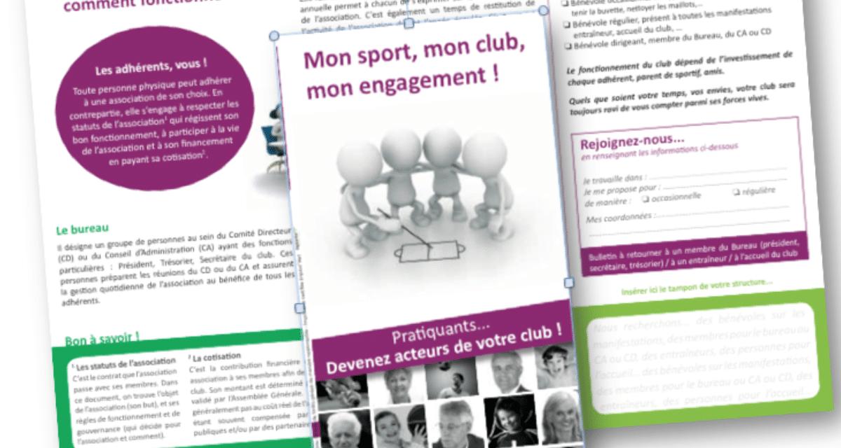 Un flyer pour recruter de nouveaux bénévoles