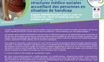 Enquête sport et handicap – pratique sportive dans les structures médico-sociales en Aquitaine