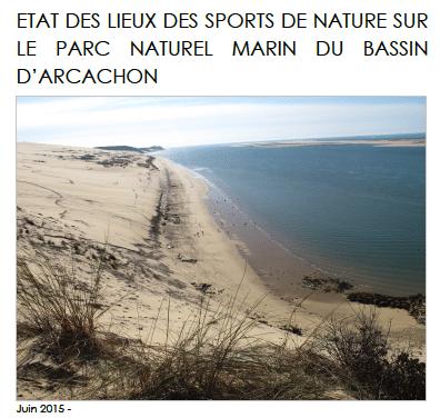 Enquête – Etats des lieux des sports de nature sur le parc naturel marin du bassin d'arcachon