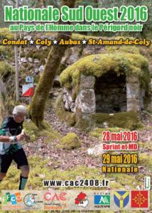 Course d'Orientation - Nationale Sud-Ouest 2016 @ Condat-sur-Vézère, Coly, Aubas et Saint-Amand-de-Coly (24)