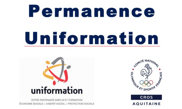 Formation professionnelle – Permanences UNIFORMATION à la Maison régionale des sports à Talence