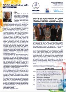 CROS Aquitaine journal n°30 mars 2016