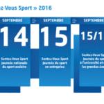 Sentez-Vous Sport 2016 du 10 au 18 septembre dans toute la France