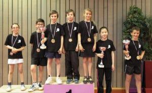 Tennis de table ALPC - challenge Clabaud - les medailles