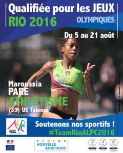 Athlétisme Paré RIO #TeamRioALPC2016