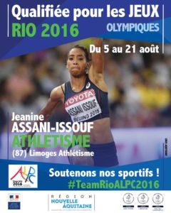 Athlétisme Assani-issouf RIO #TeamRioALPC2016