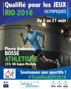 Athlétisme Bosse RIO #TeamRioALPC2016