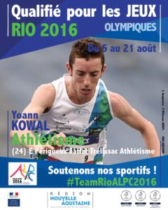 Athletisme Kowal RIO #TeamRioALPC2016