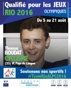 Cyclisme Boudat RIO Cyclisme Daudet RIO #TeamRioALPC2016