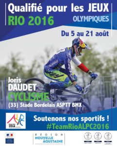 Cyclisme Daudet RIO #TeamRioALPC2016