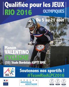 Cyclisme Valentino RIO #TeamRioALPC2016