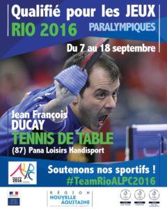 H Tennis de table Ducay #TeamRioALPC2016