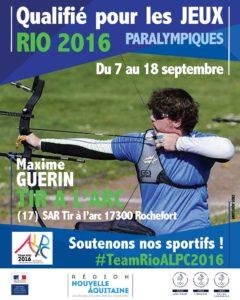 H tir a l'arc Guerin RIO #TeamRioALPC2016