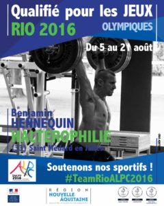 Halterophilie hennequin RIO #TeamRioALPC2016