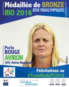 Perle BOUGE médaillé bronze #TeamRIOALPC2016