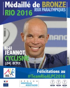 Joel Jeannot médaillé bronze #TeamRIOALPC2016