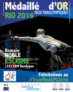 Romain NOBLE medaille OR RIO 2016 #TeamRIOALPC2016