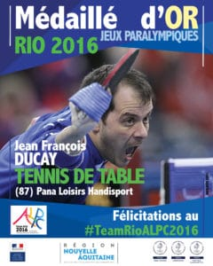 JF DUCAY medaille OR RIO 2016 #TeamRIOALPC2016