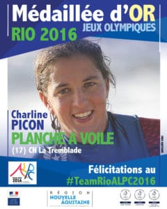 Charline PICON médaillée d'or RIO 2016