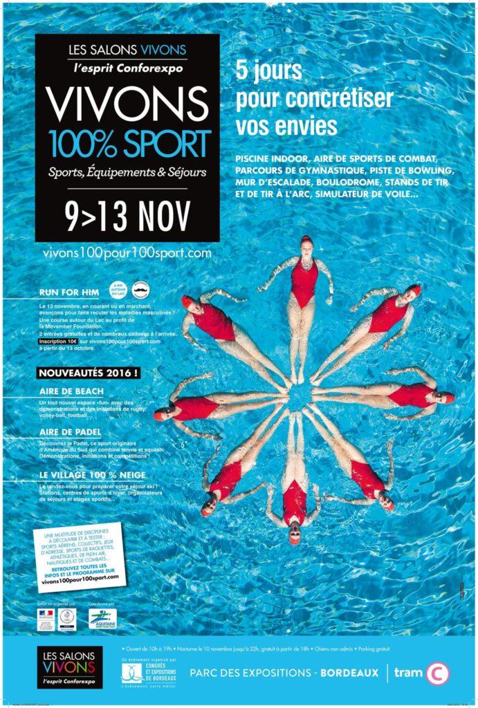 Affiche Salon vivons- sport 2016 Bordeaux H