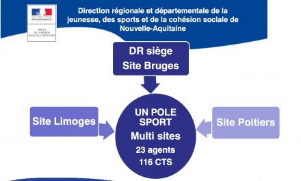 Le pôle sport de la DR-D-JSCS Nouvelle-Aquitaine