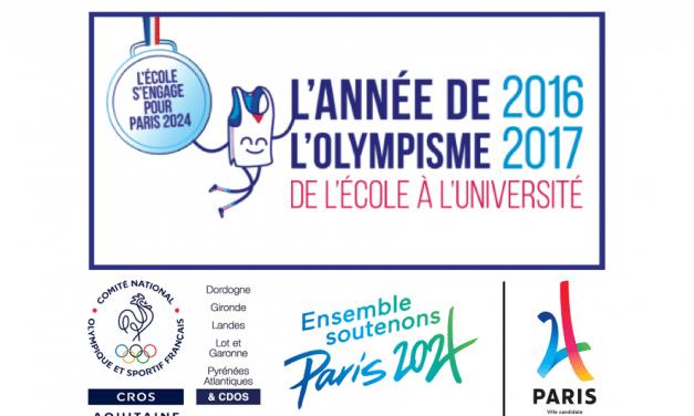 PARIS2024 : l'olympisme s'invite aux collèges de Pessac (33) et Marracq (64) les 26 et 27 janvier
