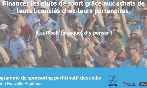 Sponsoring participatif, devenez club pilote en Nouvelle-Aquitaine, 9 mai Talence
