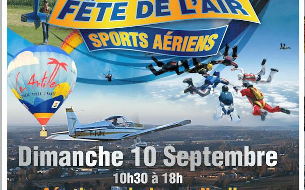 10e Fête de l'air Nouvelle-Aquitaine, le 10 septembre à Jonzac Neulles (17)