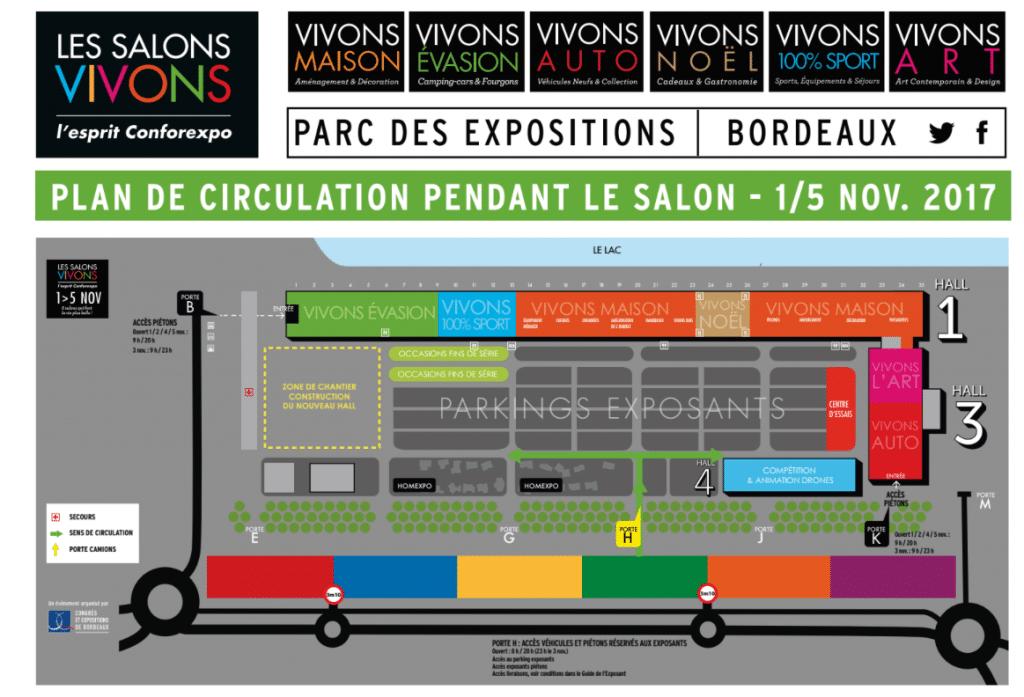 Plan Parc expo - Salon Vivons Sport 2017