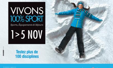 Les Rendez-Vous du SALON VIVONS 100% Sport du 1er au 5 novembre à Bordeaux