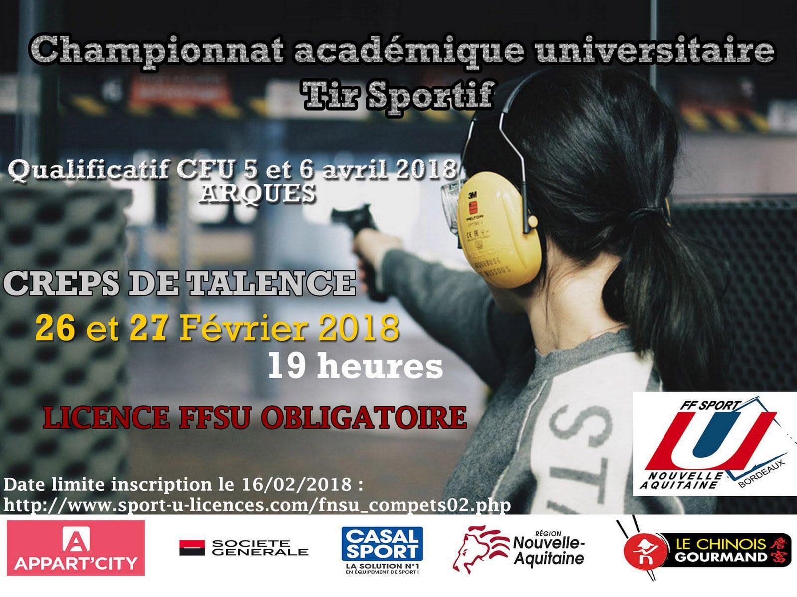 Tir Sportif - Championnat académique universitaire @ CREPS de Bordeaux-Talence | Talence | Nouvelle-Aquitaine | France