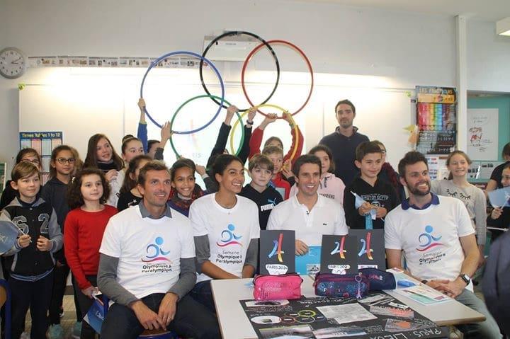 Semaine Olympique et Paralympique 2018 – Tony Estanguet et 3 olympiens à Léognan (Gironde)