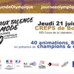 Bordeaux-Talence en mode #JourneeOlympique jeudi 21 juin CREPS de Bordeaux