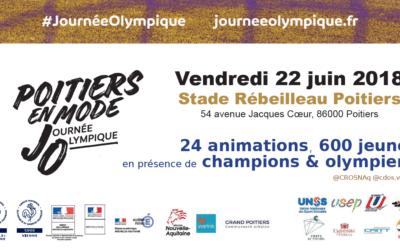 Poitiers en mode #JourneeOlympique le 22 juin sur le stade Rébeilleau