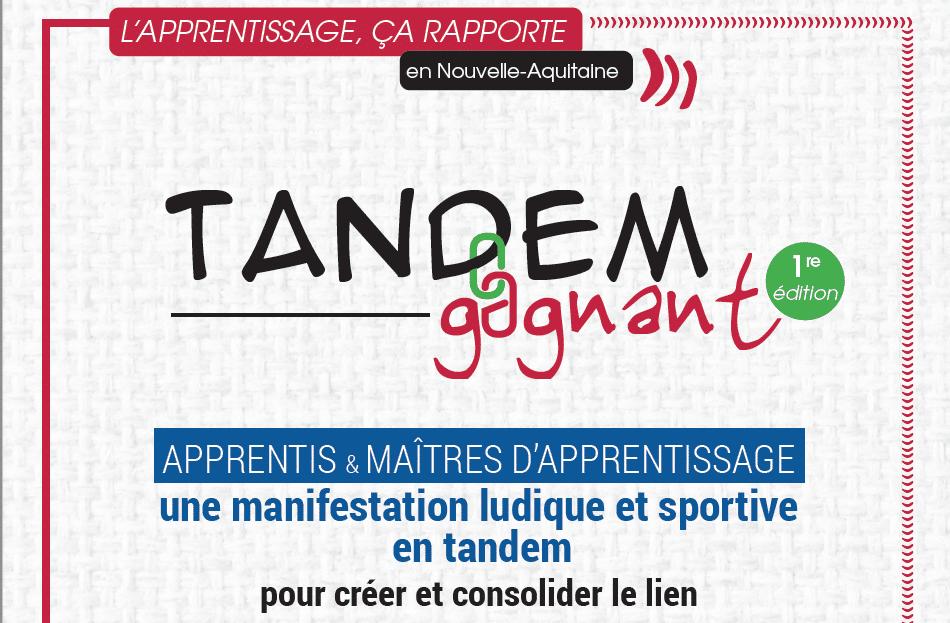 Tandem Gagnant sportif – Apprentis et maîtres d'apprentissage réunis le 27 septembre à Talence