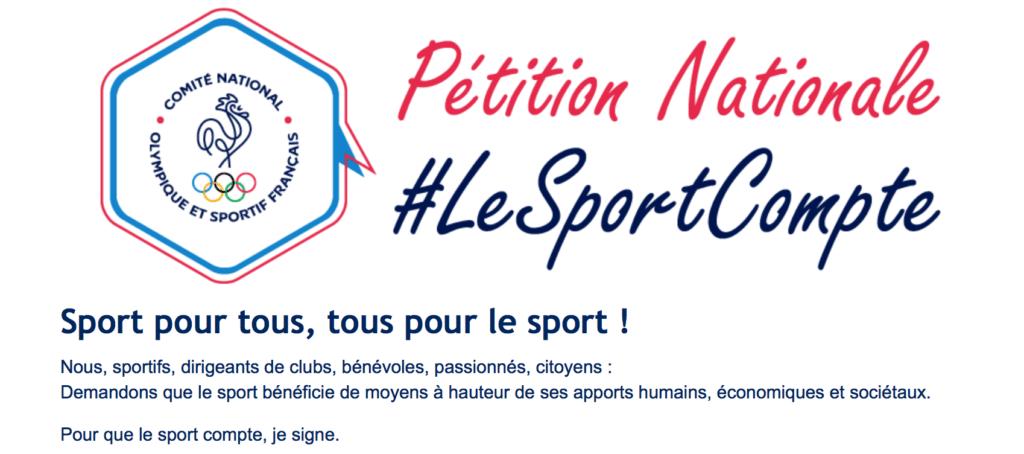 Signez la petition #LeSportCompte