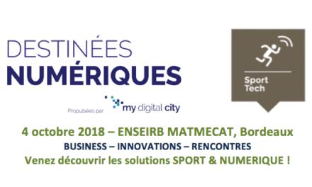 Salon Sport & numérique le 4 octobre à Bordeaux, inscrivez-vous !