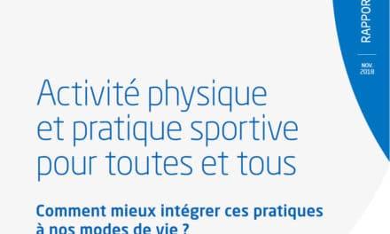 Remise du rapport de France Stratégie : Comment mieux intégrer l'activité physique et la pratique sportive à nos modes de vie ?